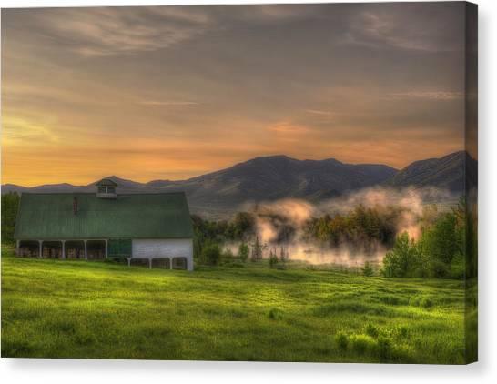 White Mountain Sunrise - New Hampshire Canvas Print by Joann Vitali