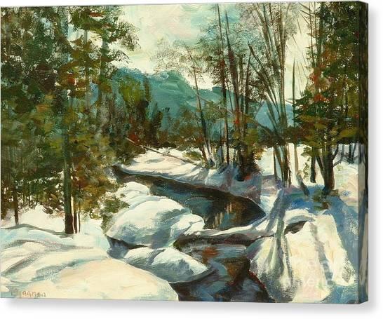 White Mountain Winter Creek Canvas Print