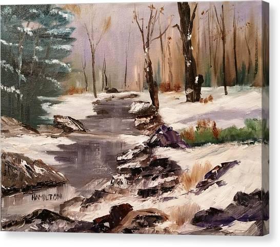 White Mountains Creek Canvas Print