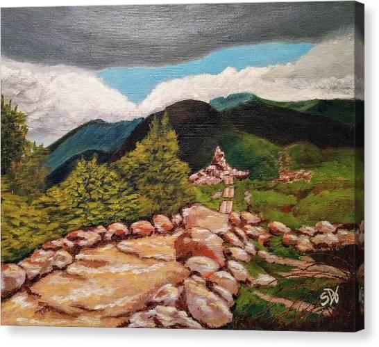 White Mountains Hiking Trail Canvas Print by Sheri Doyon
