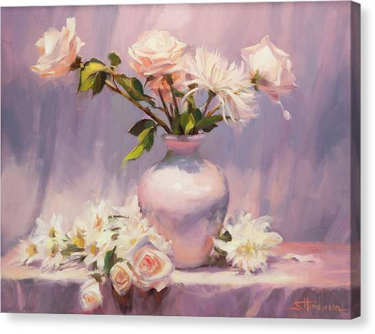 Elegance Canvas Print - White On White by Steve Henderson