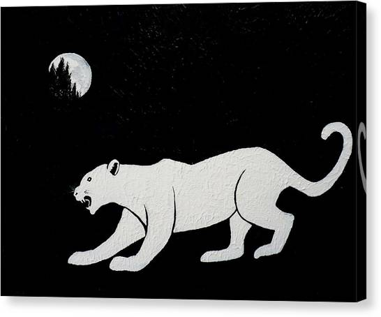 White Panther Canvas Print
