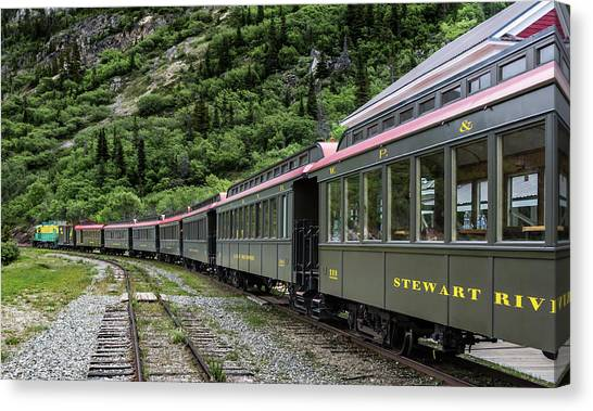 White Pass And Yukon Railway Canvas Print
