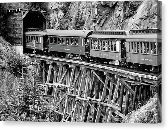 White Pass Railway Canvas Print