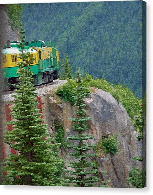 White Pass Train Alaska - Canada Canvas Print