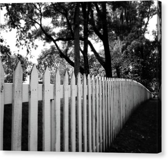 Nashville Canvas Print - White Picket Fence- By Linda Woods by Linda Woods