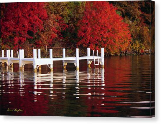 White Pier - Lake Geneva Wisconsin Canvas Print