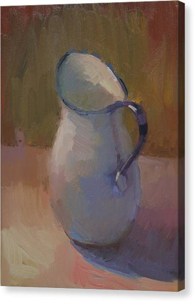 White Pitcher Canvas Print by Kathryn Townsend