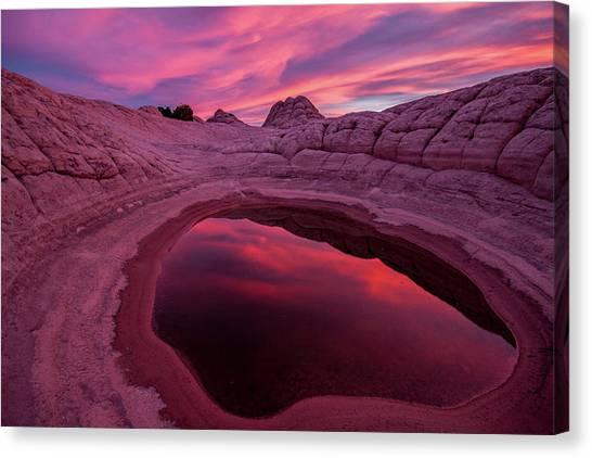 White Pocket Sunset Canvas Print