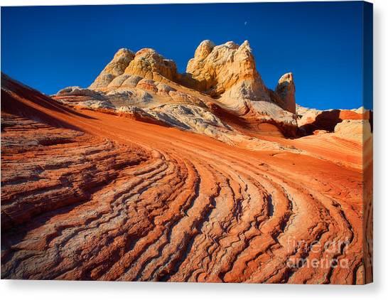 Arizona Coyotes Canvas Print - White Pocket Wave by Inge Johnsson