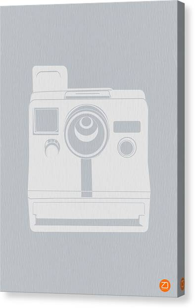 Retro Canvas Print - White Polaroid Camera by Naxart Studio