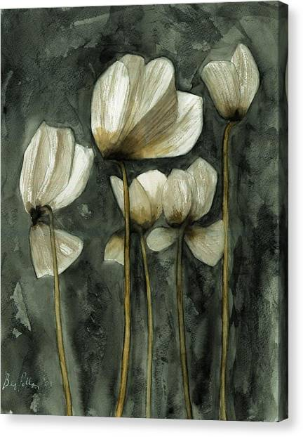 White Poppies Canvas Print by Ben Potter