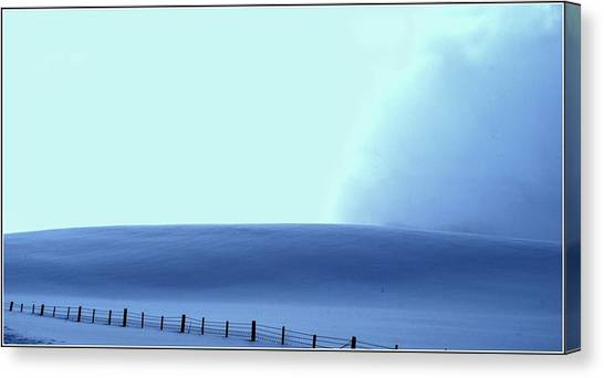 White Powder Wave Canvas Print