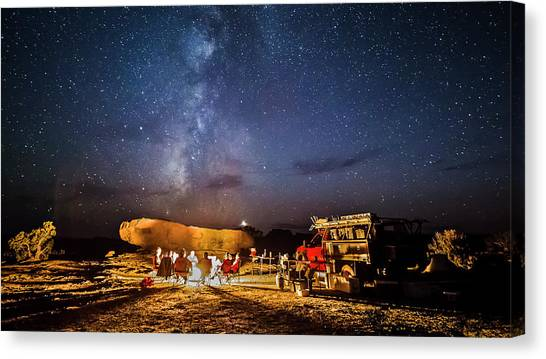 White Rim Camp Canvas Print