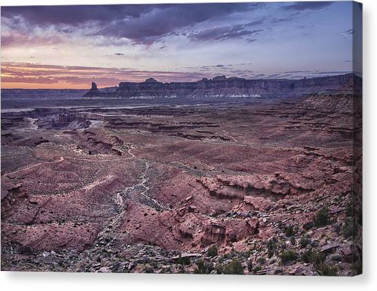 4x4 Canvas Print - White Rim Trail Vista by Adam Romanowicz