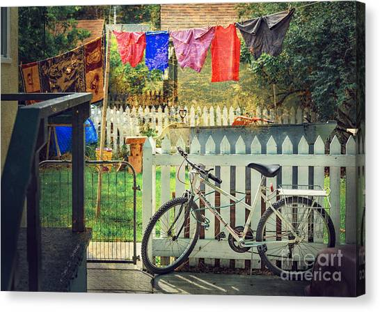 White River Bicycle Canvas Print