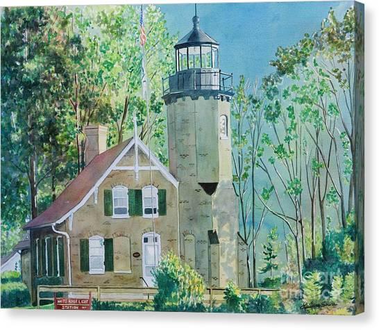 White River Light Canvas Print