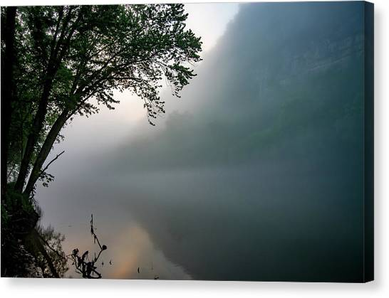 White River Morning Canvas Print