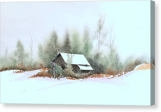White Roof Canvas Print by William Renzulli