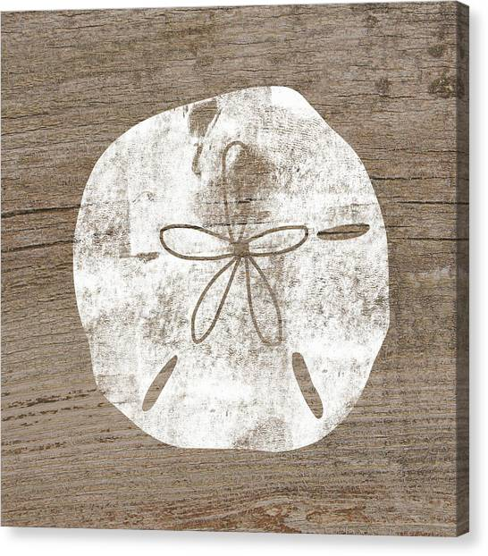 Bedroom Canvas Print - White Sand Dollar- Art By Linda Woods by Linda Woods