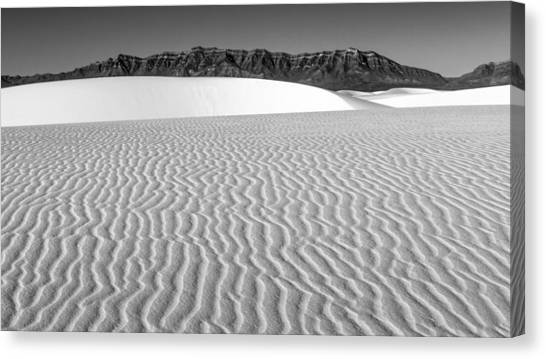 White Sand Canvas Print - White Sands And San Andres Mountains by Joseph Smith
