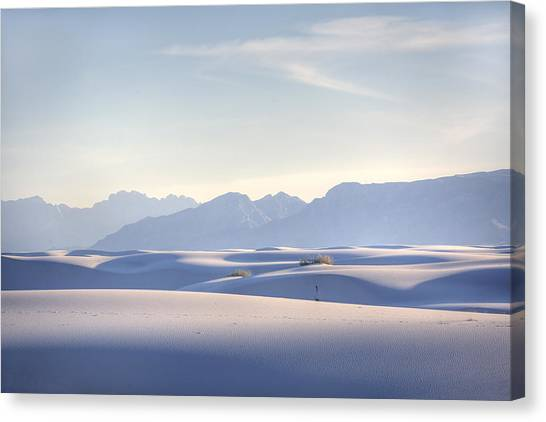Desert Canvas Print - White Sands Blue Sky by Peter Tellone