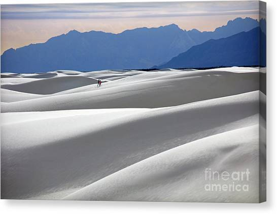 White Sands Hikers Canvas Print