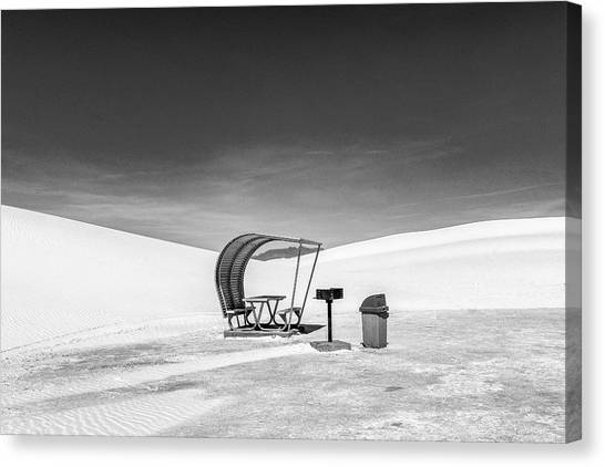 Canvas Print featuring the photograph White Sands National Monument #8 by Lou Novick