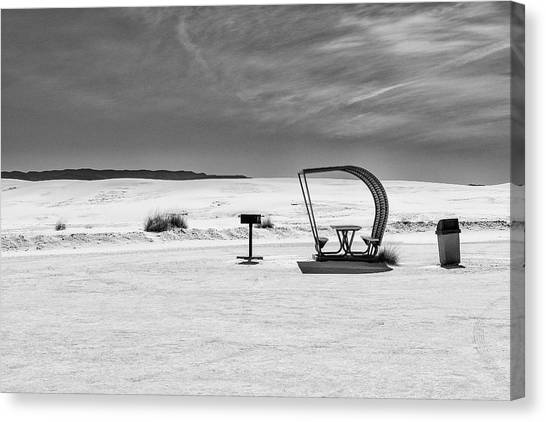 Canvas Print featuring the photograph White Sands National Monument #9 by Lou Novick