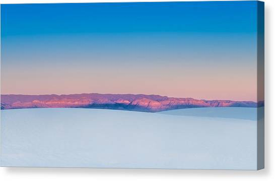 White Sand Canvas Print - White Sands Sunset by Joseph Smith