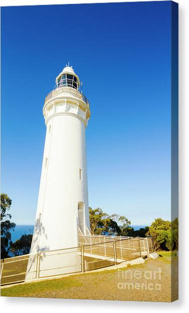 North Shore Canvas Print - White Seaside Tower by Jorgo Photography - Wall Art Gallery