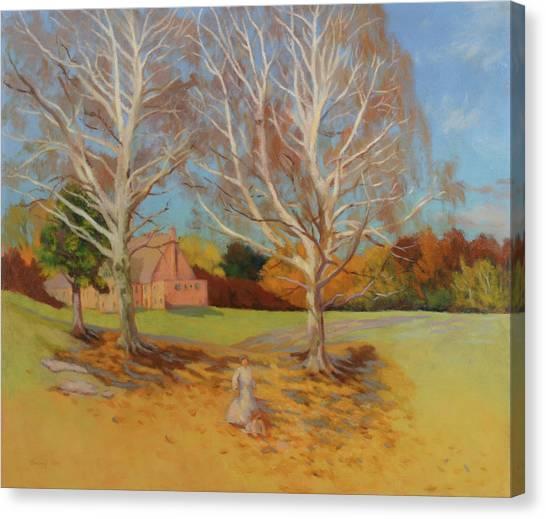 Church Yard Canvas Print - White Song Fall by Bruce Zboray