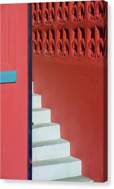 White Staircase Venice Beach California Canvas Print