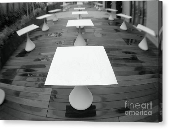 White Tables Canvas Print