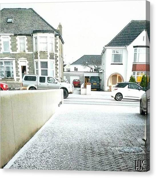 Hailstorms Canvas Print - White Tuesday In Newquay ❄⛄ 📷 by HK Jetsetter