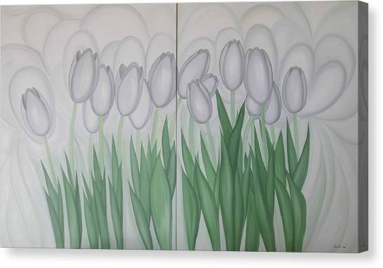 White Tulips  Canvas Print by Marinella Owens