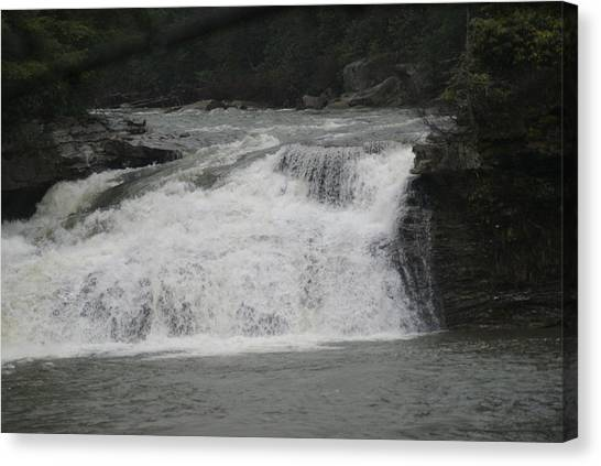 White Water Canvas Print by Heather Green