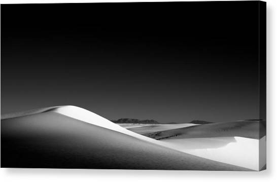 White Sand Canvas Print - White Wave by Joseph Smith
