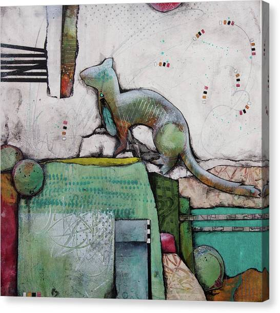 Canvas Print - White Weasel  by Laura Lein-Svencner