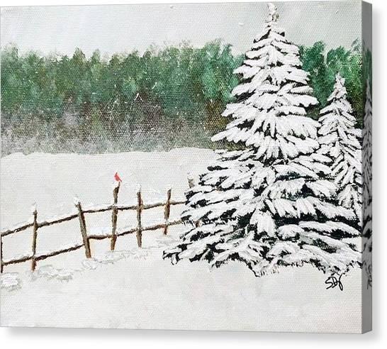 White Winter Canvas Print by Sheri Doyon