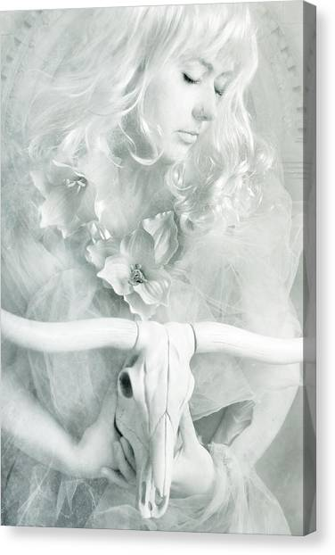 Witch Canvas Print - White Witch II by Cambion Art