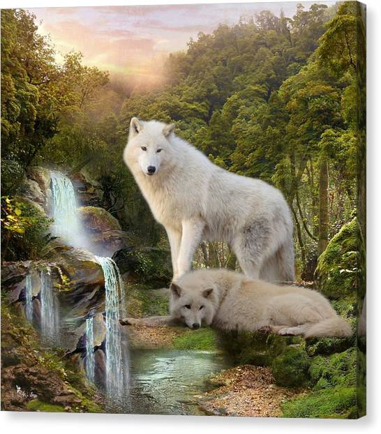 White Wolf Falls2 Canvas Print