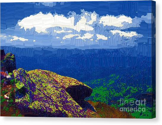 Whiteface Mountain View Canvas Print by Diane E Berry