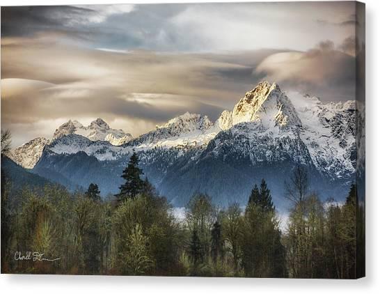 Whitehorse Sunrise, Flowing Clouds Canvas Print