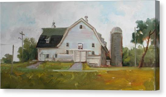 Whitehouse Dairy Barn Canvas Print by Nora Sallows
