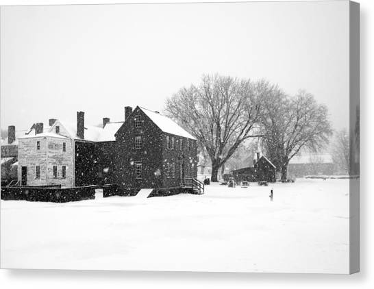 Whiteout At Strawbery Banke Canvas Print