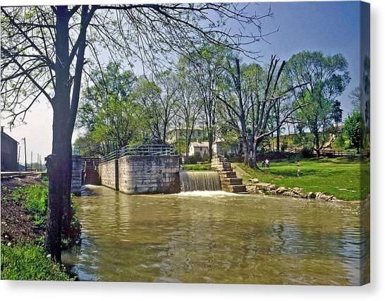 Whitewater Canal Metamora Indiana Canvas Print