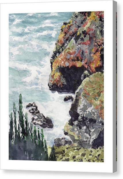 Whitewater Coast Canvas Print