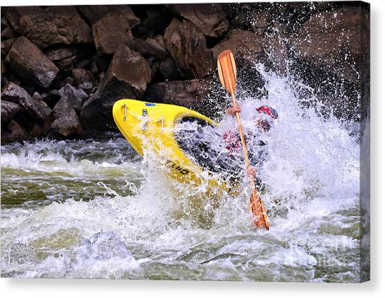 Whitewater On The New River Canvas Print