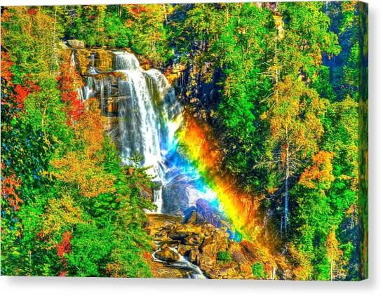 Whitewater Rainbow Canvas Print